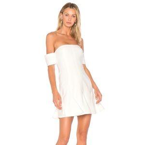 CINQ A SEPT ELVA OFF SHOULDER DRESS